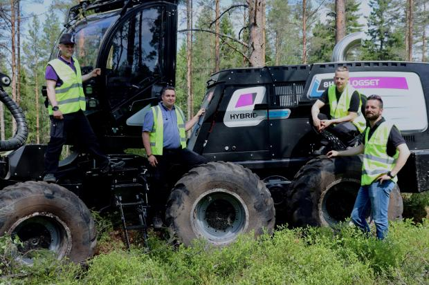 Forestry Journal:  From left to right: Kari Kangas, Jouni Kytovaara, Jonas Hedstrom and Pascal Réty.