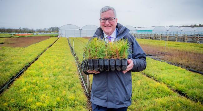 Scottish Government's Rural Economy Secretary, Fergus Ewing, at a previous visit to Alba Trees, one of the UK's largest tree nurseries based in East Lothian.