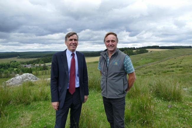 Forestry minister makes Northumberland visit