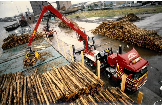 60 years of transporting timber in the Highlands
