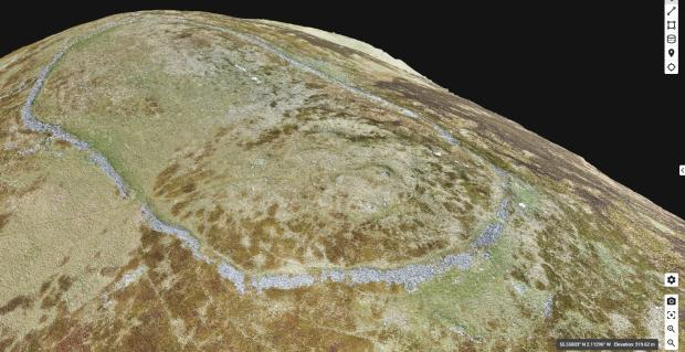 Forestry Journal: A 3D model of Humbleton Hill in Northumberland, created using point clouds.