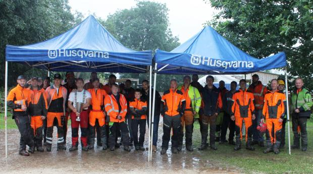 Forestry Journal: The full team at the UK Loggers August event at Newton Rigg College, Penrith.