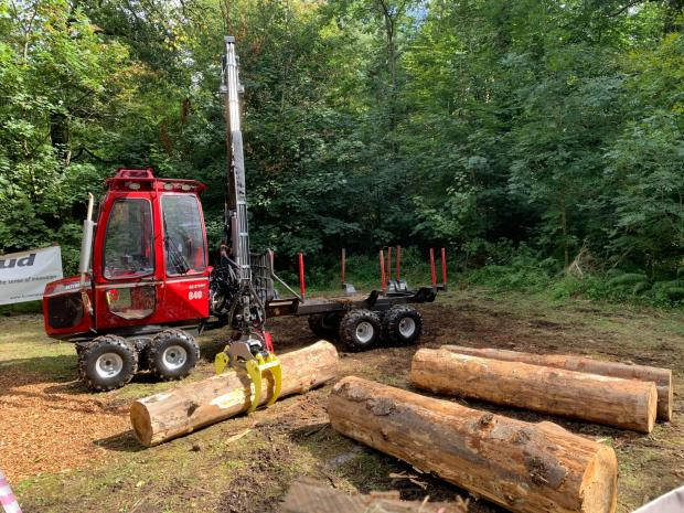 Forestry Journal: Home Forestry showed off the Astor 840 Pro combi machine on its stand.