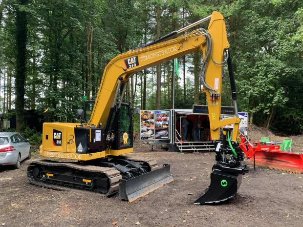 Forestry Journal: Cat 310 tracked excavator with Steelwrist X12.