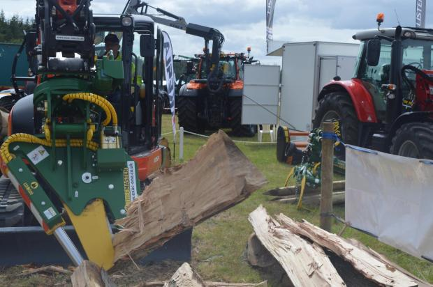 Forestry Journal: The Treemaster caught a lot of attention on the Exac-One stand.