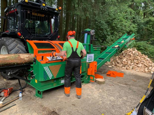 Forestry Journal: The Posch K-415 firewood processor proved a popular attraction on the Jas P Wilson stand.