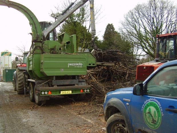 Forestry Journal: The 16,500 kg Pezzolato PTH 1000/1000 chipper is fixed to a large trailer.