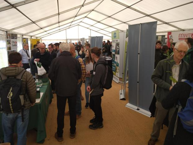 Forestry Journal: Inside the crowded exhibits marquee.