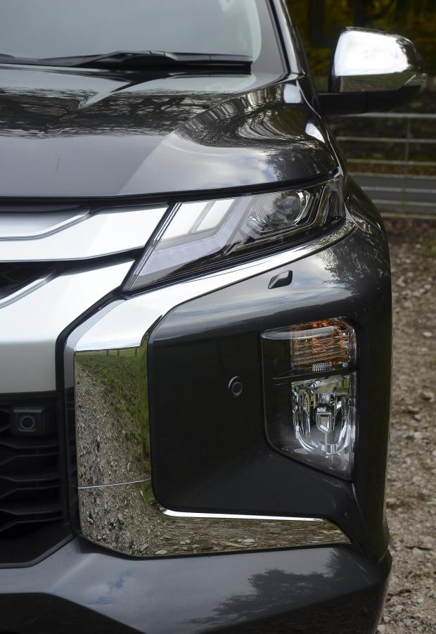 Forestry Journal:  The new L200 incorporates the latest Mitsubishi-style chrome cheeks.