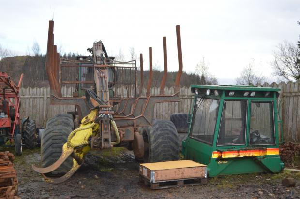 Forestry Journal: Colin Brolly's first forwarder still sits in the yard today.
