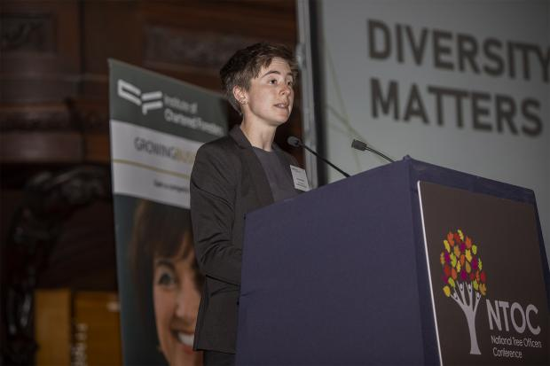 Forestry Journal: Jessica Stokes, arboricultural officer for LB Wandsworth, spoke on the subject of diversity.