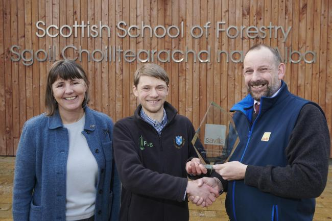 Forestry student bags Savills award