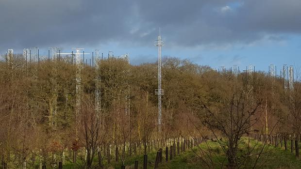 Forestry Journal:  Arrays and meteorological mast.