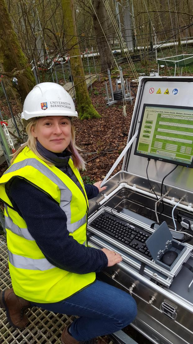 Forestry Journal: Gael and the Picarro Cavity Ring Down Spectrometer (which measures trace soil gases such as N2O and CH4).