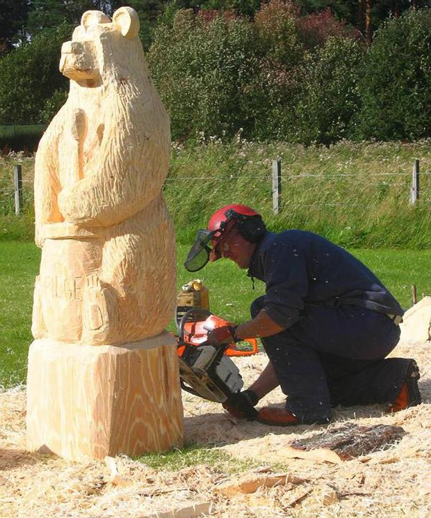 Forestry Journal: One of Iain's first carves at Carve Carrbridge was a Porridge Bear.