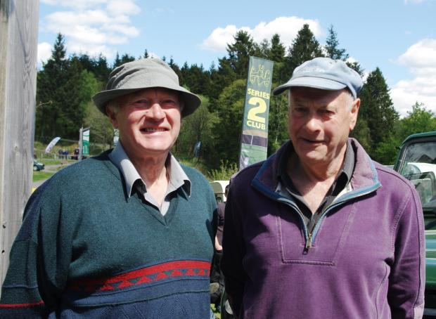 Forestry Journal: Jimmy (left) and Joe Potts. Jimmy spent his career with the Forestry Commission and was assigned to carve a couple of sets of totem poles for Stonehaugh village.
