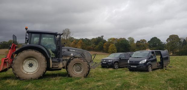 Forestry Journal: Vehicles on an 800-tonne poplar clearfell on Mertoun Estate in the Scottish Borders.