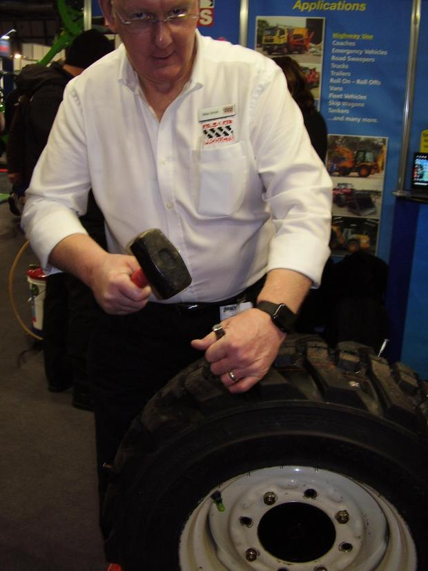 Forestry Journal: Demonstrating the benefits of the puncture repair system.