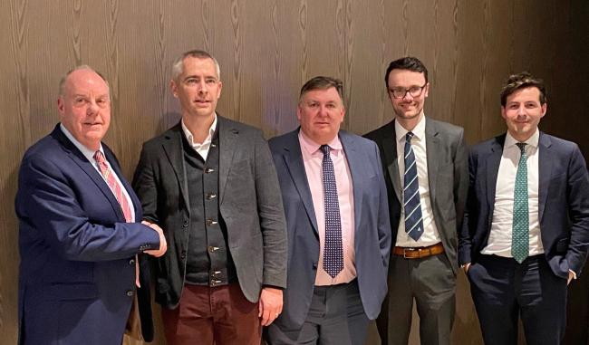 L–R: Martin Gale (Chairman, BSW), Tom Callaghan (Investment Manager, Endless), Tony Hackney (CEO, BSW), Alan Milne (CFO, BSW), Aidan Robson (Partner, Endless).