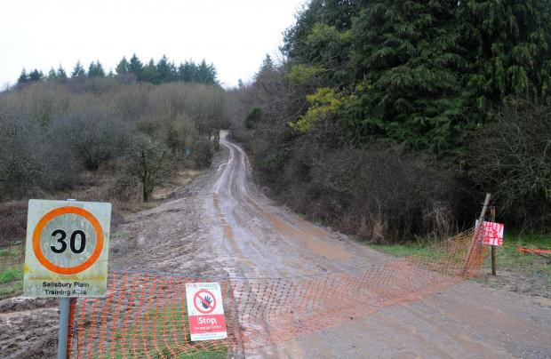 Forestry Journal: The site entrance at Salisbury Plain Training Area/Ashdown Copse.