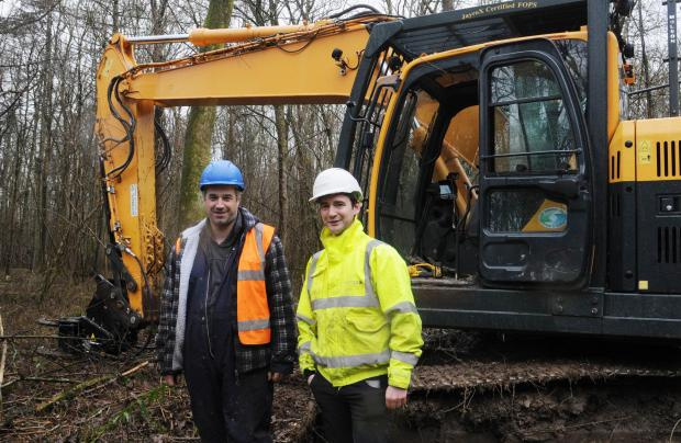 Forestry Journal: Chris Hall, RVC Forestry, and Mark Hedley, area manager for Euroforest.