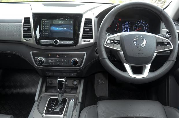 Forestry Journal: An SUV-style interior makes the Musso's cabin a comfortable place to be.