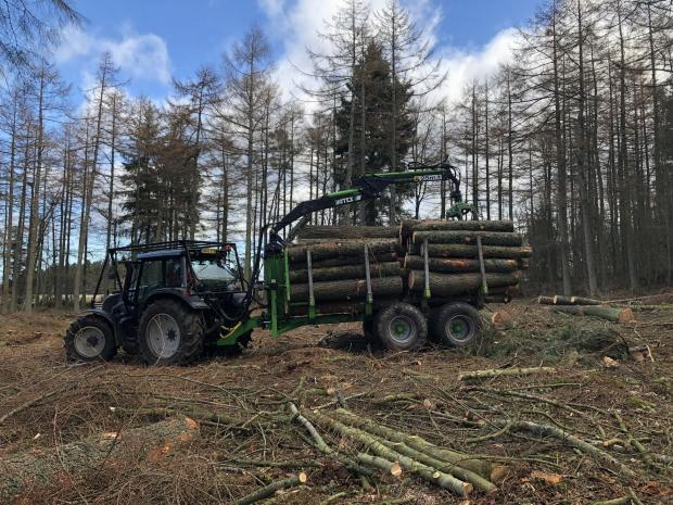 Forestry Journal: Valtra N133 tractor and Botex Bigfoot trailer.