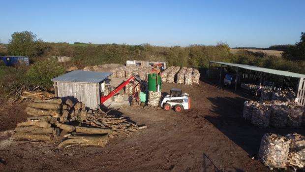 Forestry Journal: Firewood drying naturally at Test Valley Logs.