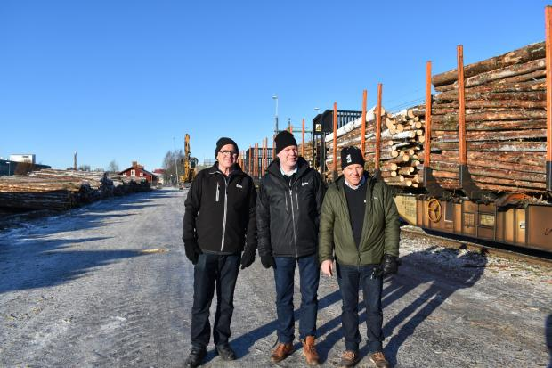 Forestry Journal: Owe Lljunghammer, Joakim Eriksson and Ingemar Larsson from ExTe, our hosts for the duration of the trip.