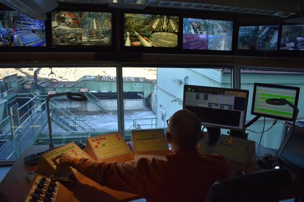 Forestry Journal: he entire chain of production is monitored from the control room using over 30 cameras.