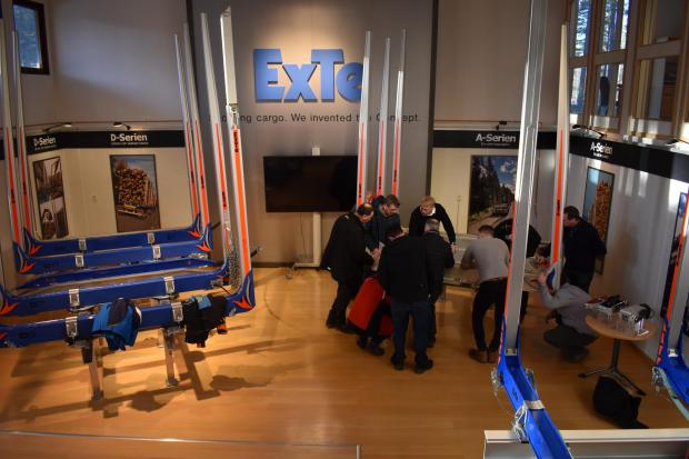 Forestry Journal: As day two neared its end, it was finally time to talk business in the ExTe showroom, before the first of the party set out for home.