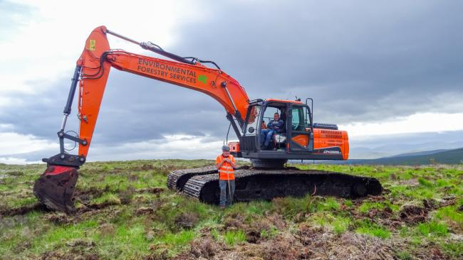 Peatland work resumes in North Highland