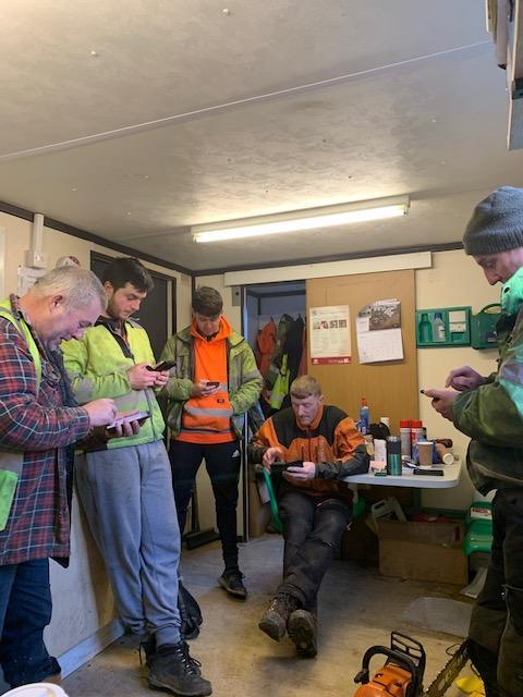Forestry Journal:  Following the toolbox talk, every operative opens a daily risk assessment relating to their specific task, fills it out accordingly, signs and submits it.