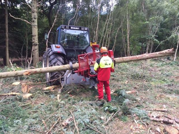 Forestry Journal:  A Hypro 300 is put to work in the field.