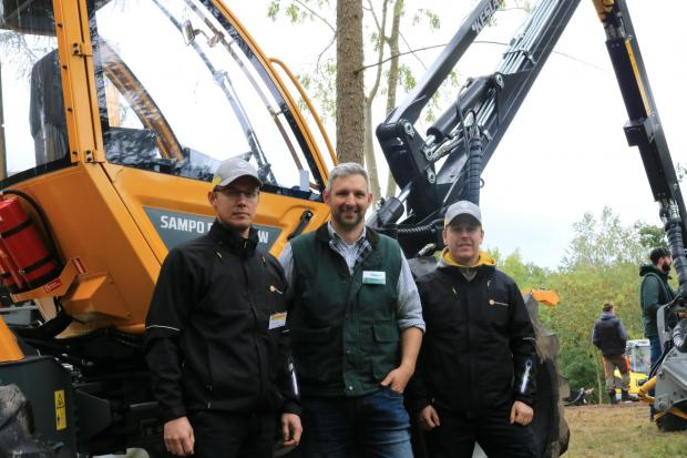 Forestry Journal: Joe Litter (middle) with Mikko Pihala and Teijo Kuusisto, visiting from Sampo Rosenlew.