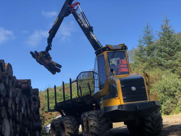 Forestry Journal: Testing out Sampo's FR28 forwarder.