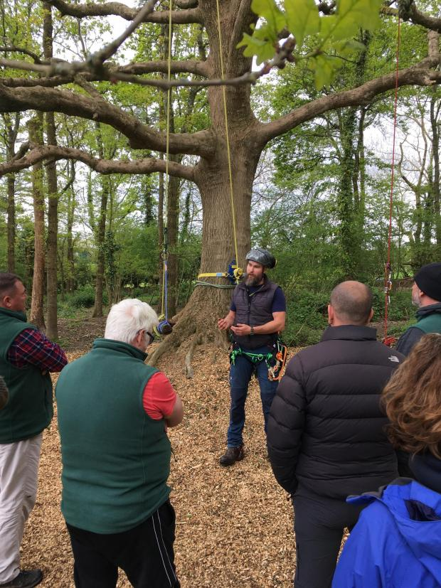 Forestry Journal: Matt Evans with a HighGround Rural Week group.