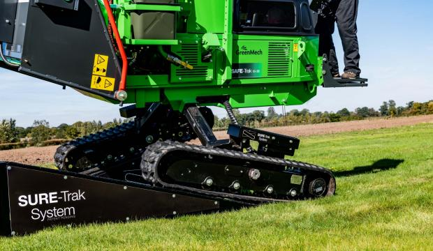 Forestry Journal: GreenMech's SURE-Trak System, introduced in 2018, allows each track to maintain contact with the ground while following the contours of even the most difficult terrain, to provide a surer footprint and improved stability.