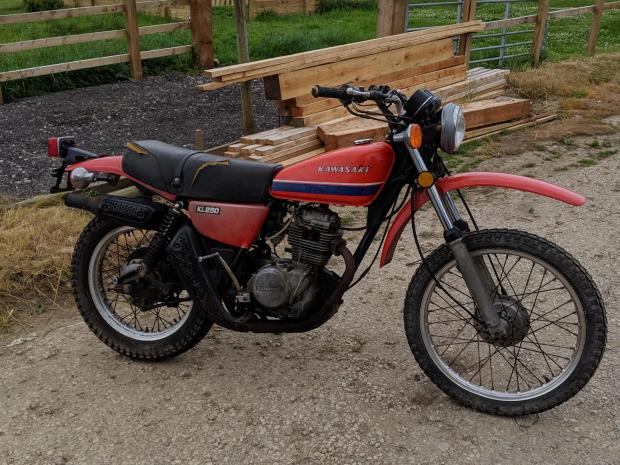 Forestry Journal: The Kawasaki KL250, every 17-year-old's dream back in 1978.