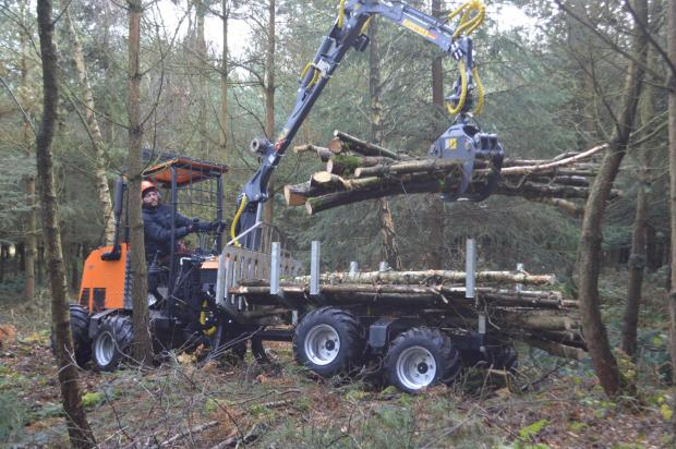 Forestry Journal: Sales of individual Farma cranes are going up, often attached to low-impact small-scale forwarders such as this Logbullet.