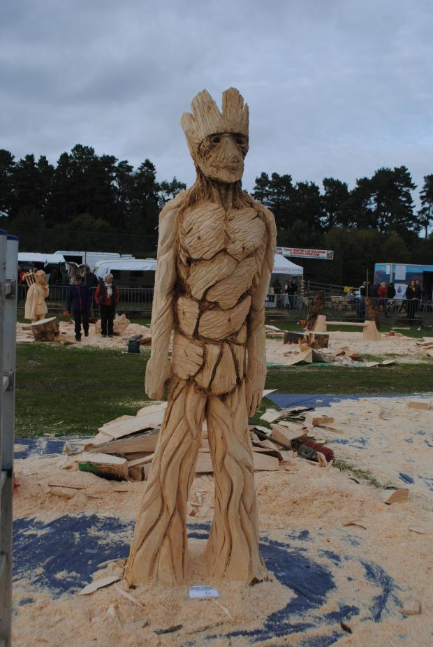 Forestry Journal: The Groot carve, which Garry gained third prize for at Carve Carrbridge 2015.